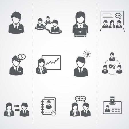 recurso: Gestão de Recursos Humanos e empresário Ícones