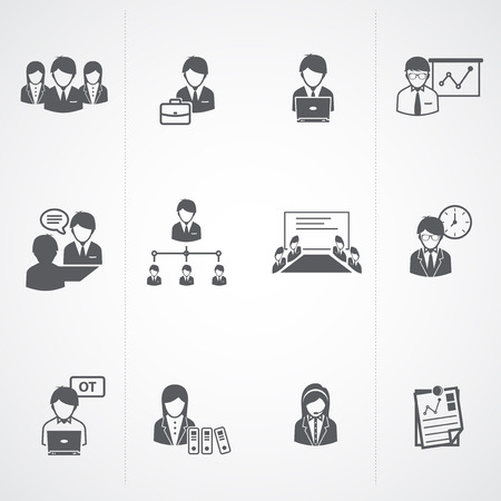 Business and Office people Icons set   Vector