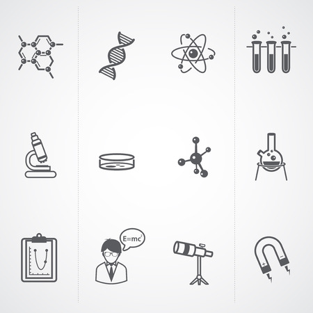 brain research: vector science icon set  Illustration