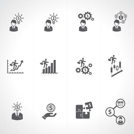 Business   Finance   Investment Icons set Illustration