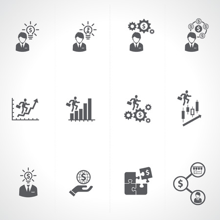 Business   Finance   Investment Icons set Ilustrace