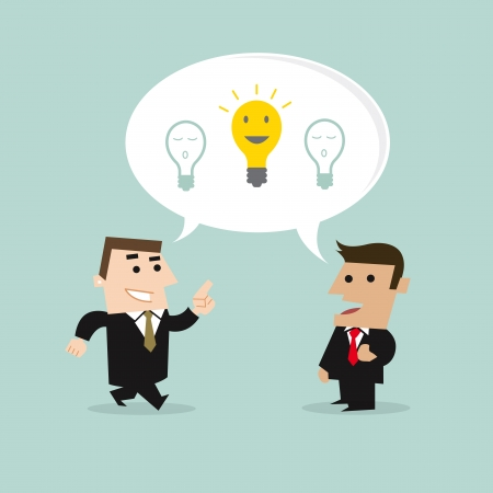 Business people share Ideas concept Vector