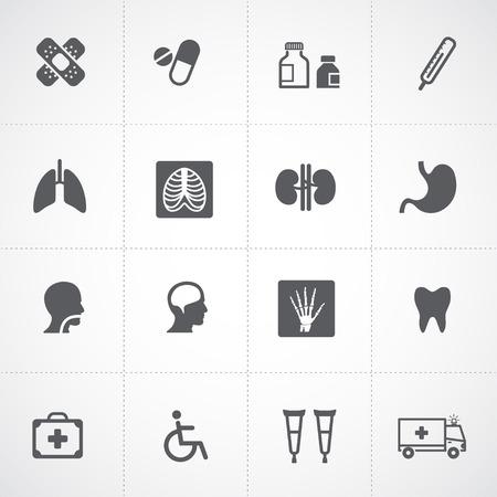 icone sanit�: Icone Salute e Medical Icons Vettoriali
