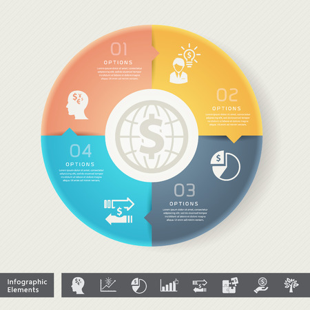 mission: Strategy in Circle Shape for Successful Business Infographic