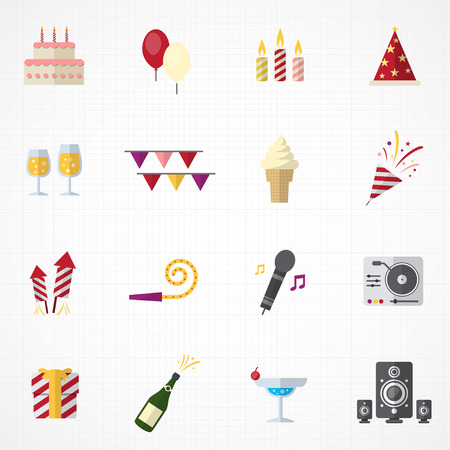 celebration event: Celebration Icons and Party Icons set