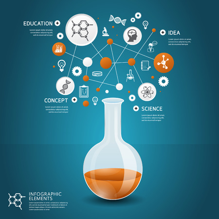 Science concept design template for infographics Illustration