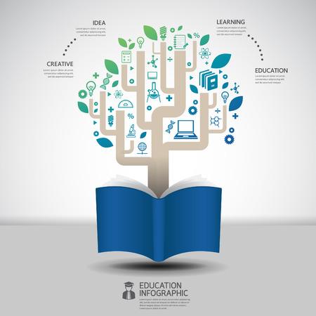 book diagram creative paper cut style infographic concept design template graphic