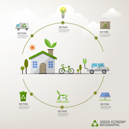 earth friendly: ecology concept infographic modern design. icon and sign. Illustration