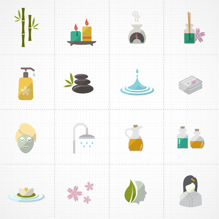 papering: Spa icons set