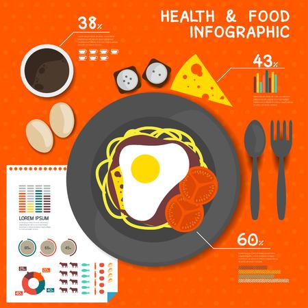 infochart: Flat Design Food Infographic Elements