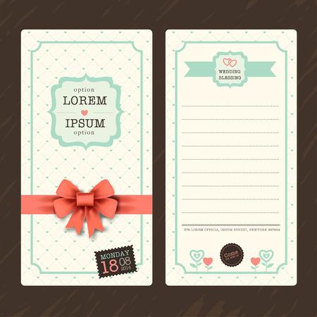 boarding: Vintage Ticket Wedding Invitation Card Template