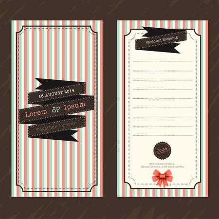 boarding card: Vintage Ticket Wedding Invitation Card Template