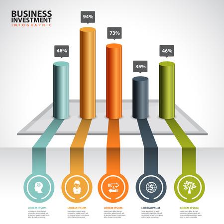 grafica de barras: negocio gr�fico y gr�fico infograf�a