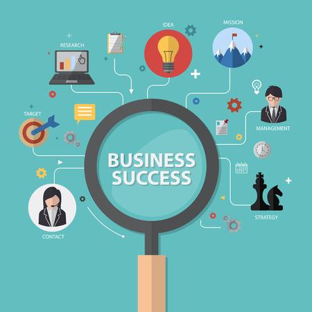 business success concept: vector infographics background business success concept Illustration
