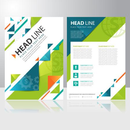folleto: Triángulo abstracto folleto de negocios folleto plantilla de diseño vectorial