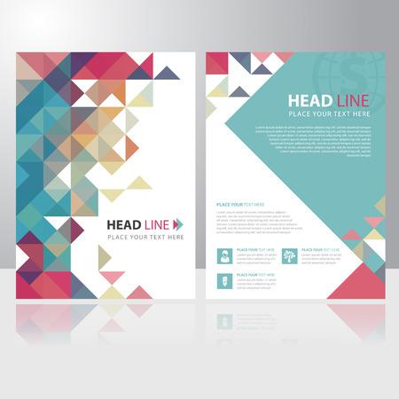 tri�ngulo: Tri�ngulo abstracto folleto de negocios folleto plantilla de dise�o vectorial