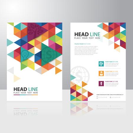 poligonos: Tri�ngulo abstracto folleto de negocios folleto plantilla de dise�o vectorial