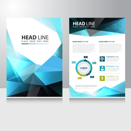 Abstract Triangle Polygon Business Brochure Flyer design vector template Иллюстрация