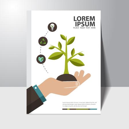 bike cover: Vector ecology concept book cover design template