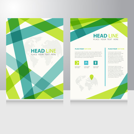 folders: Resumen comunicación en línea Internet Negocio Modelo del folleto folleto de diseño vectorial
