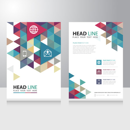 Abstract Triangle internet communication Brochure Flyer design vector template Ilustração