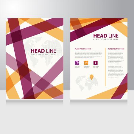 business communication: Abstract Business internet online communication Brochure Flyer design vector template