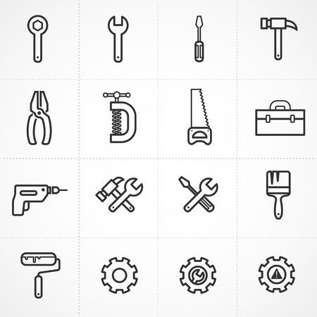 Vector tools icon set  イラスト・ベクター素材