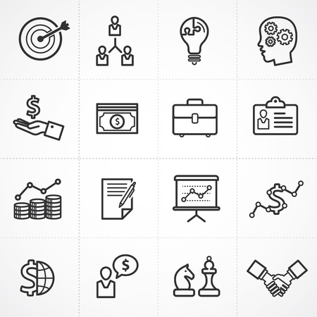 chess: Vector business management icon set