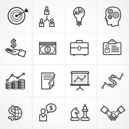 chess: Vector conjunto de iconos de gestión empresarial