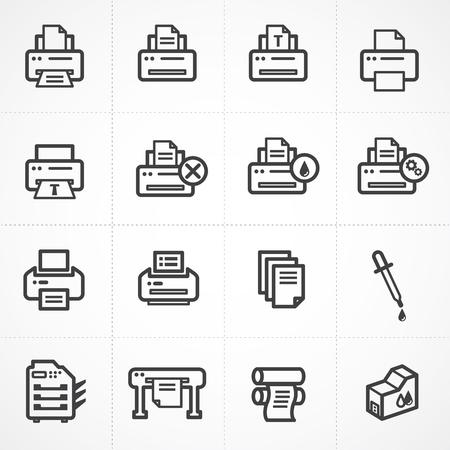 printing proof: Vector print icon set