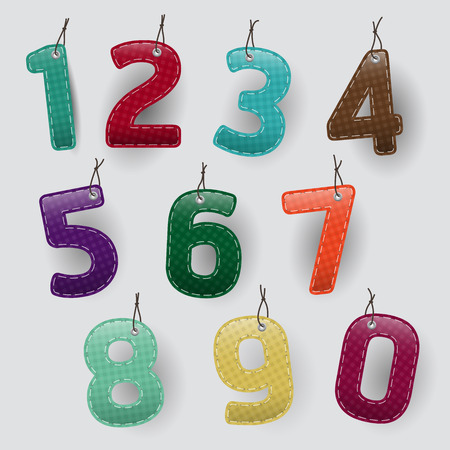 paper tag: Set of Modern Design paper number tag