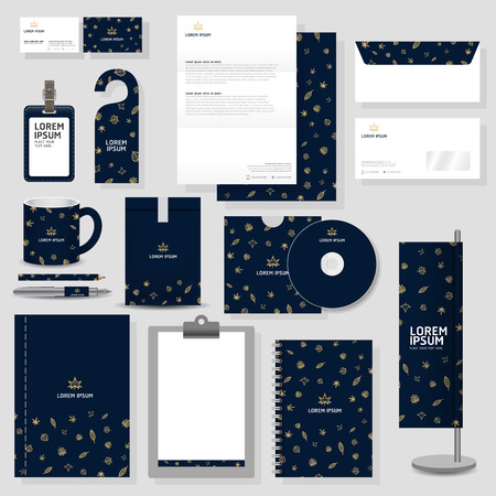 classic': corporate identity template Stationery design set in vector format