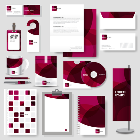 business card design: Technology corporate identity template Stationery design set in vector format Illustration