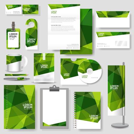 ベクトル形式の技術企業の id テンプレートひな形デザインを設定