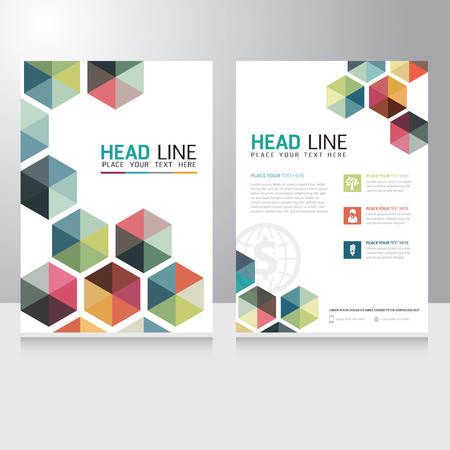 Abstract Triangle Business Brochure Flyer design vector template Stok Fotoğraf - 46792744