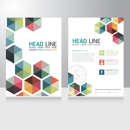 brochure: Triángulo abstracto folleto de negocios folleto plantilla de diseño vectorial