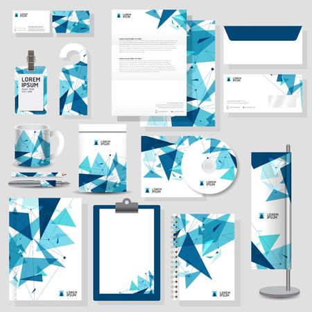 membrete: Tecnología identidad corporativa diseño de plantilla Set estacionario en formato vectorial