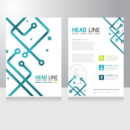 Abstract Technology Business Brochure Flyer design vector template