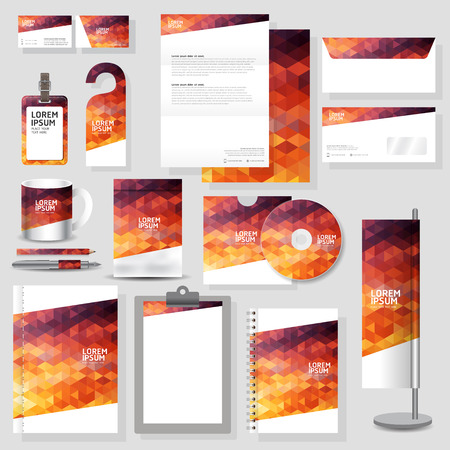 Technology corporate identity template Stationery design set in vector format Stock Illustratie