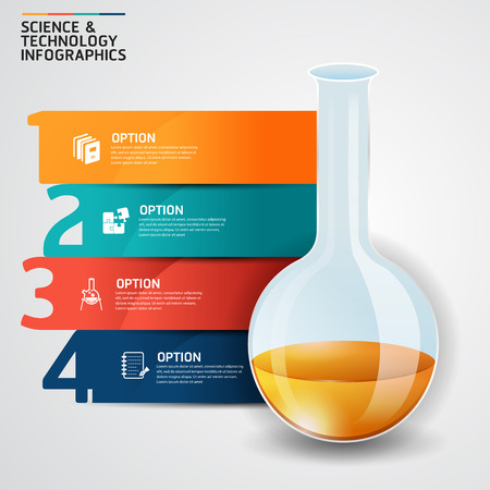 forensics: Concept science and education success test tube infographics design template.