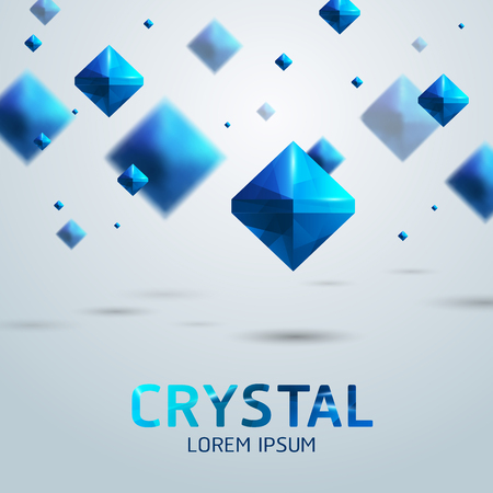 gemstones: beautiful crystals realistic gemstone