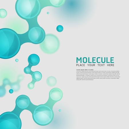 biologia: Diseño de moléculas abstracta. Vector Medical Átomos científicos y biología celular.