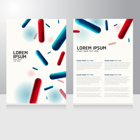 Abstract molecules design. Vector Medical scientific Atoms and biology cell Brochure Flyer design template Illustration