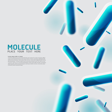 Abstract molecules, Bacteria, cell, virus design. Vector Medical scientific Atoms and biology cell. Stock fotó - 48783153