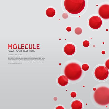 分子設計を抽象化します。ベクトル医療科学的な原子と生物細胞。