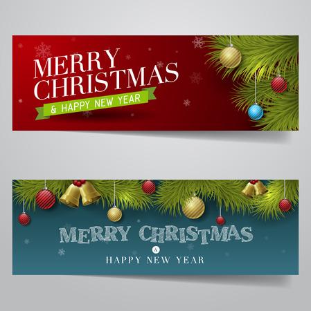 Vector Merry Christmas, banner design