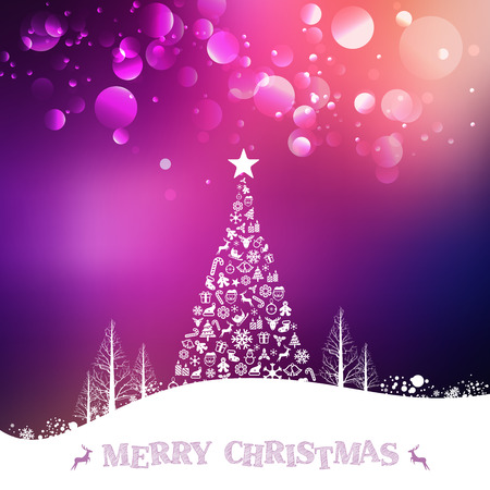 Christmas and Happy new year Greeting Card. Merry Christmas