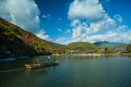 aisa: KYOTO, JAPAN : Sailing boat in Kyoto, Japan on November.