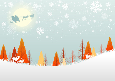 christmas winter: white winter forest christmas background design