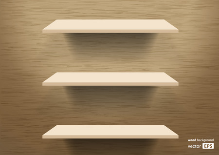 brown box: wooden shelves background